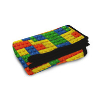 Lego Cubes Fleece Blanket Kids Blanket Children Blankets