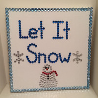 Let It Snow Rhinestone Canvas