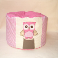 Owl Pouf, Bean Bag Chair - Baby Shower Gift - HET-