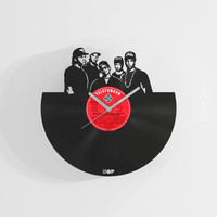 N.W.A wall clock from upcycled vinyl record (LP) | Hand-made gift for hip-hop fan, lover | Hip hop home wall decoration, NWA fan present