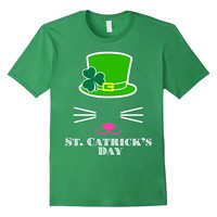 Happy St. Catrick's Day St. Patrick's Day Cat Hat T-Shirt