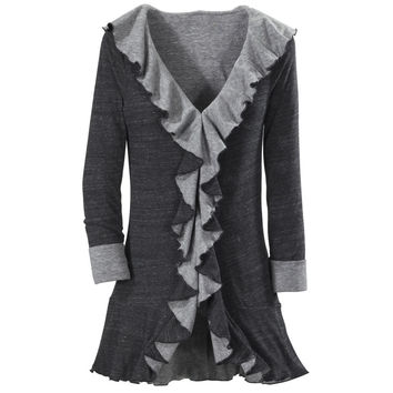 Black and Gray Reversible Hooded Jacket - Women's Clothing & Symbolic Jewelry – Sexy, Fantasy, Romantic Fashions