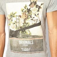 Jack & Jones T-Shirt With Floral Bridge Print