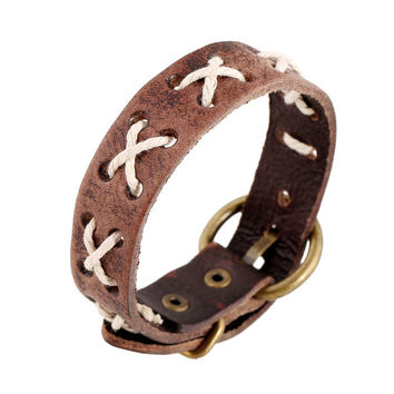 Stylish Great Deal Hot Sale Awesome New Arrival Shiny Gift Simple Design Leather Ladies Vintage Ring Accessory Korean Couple Bracelet [6058425345]