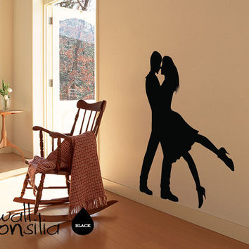 "Dancers Wall Decal - Dancers Wall Sticker - 52"" high and 45"" wide"
