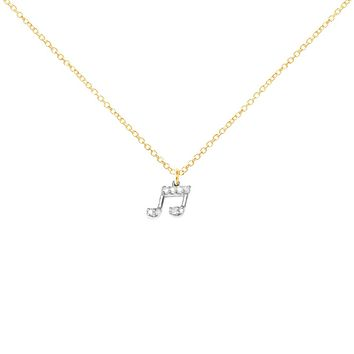 Little Music Note Necklace - More Colors!