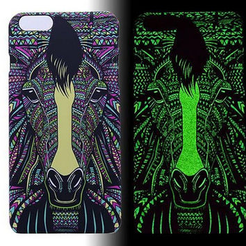 Horse Luminous Light Up creative case Cover for iPhone 5s / iPhone 6s / iPhone 6s Plus