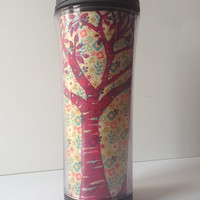 Tree and Rabbit Floral Travel Cup
