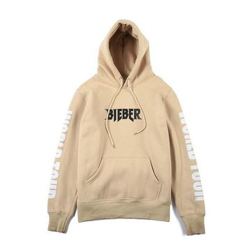 Purpose Tour Hoodies BIEBER Men's Khaki Hoodie Flleece Casual Jackets American And European Autumn Winter Coat Women Hoodies