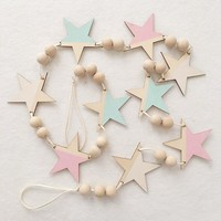 INS Beautiful Star Wooden beads wall decorations baby kids room decoration Birthday Party decor hanging Decorations Baby Gift