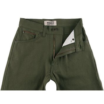Naked & Famous Denim - Women's Max Army Green Duck Selvedge Pants