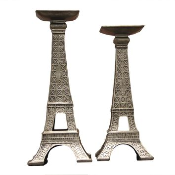 Eiffel Tower Candle  Holder Set