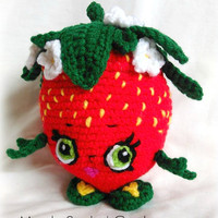Shopkins Inspired Strawberry Kiss; CROCHET PATTERN