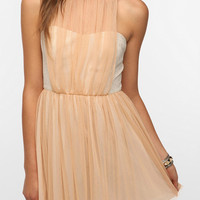 Urban Outfitters - Pins and Needles Tulle Overlay Halter Dress