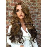 Ombre Dark blonde hair front lace wig
