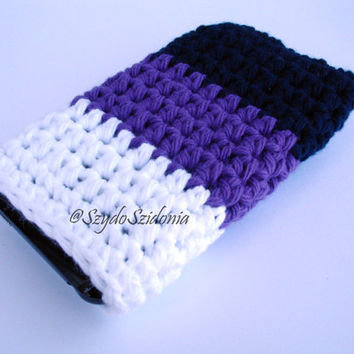 Crochet Phone cover ,iPhone,Blackberry,Tablet cover,Cell phone holder,Smartphone case,Crochet phone case