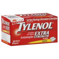 Tylenol Extra Strength 100-Count 500 mg Pain Reliever Caplets for Adults