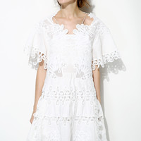 White lace dress--E0223
