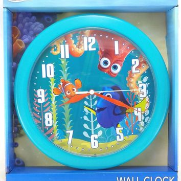 "Disney Finding Dory 9.75"" Blue Round Wall Clock"