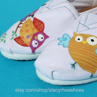 Whimsical TOMS with owls