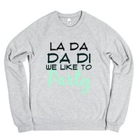We Like To Party Crew-Unisex Heather Grey Sweatshirt