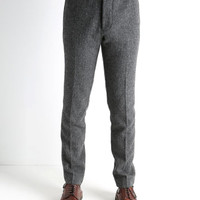 wings+horns FW13 Herringbone Tweed Dress Pant Charcoal - CONTEXT CLOTHING - Free Shipping!