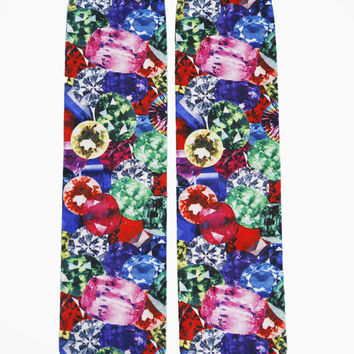 Jewel Photo Print Crew Socks
