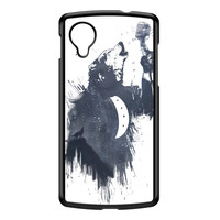 Wolf Song 3 Black Hard Plastic Case for Google Nexus 5 by Balazs Solti