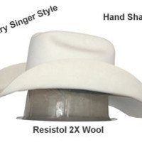 Resistol 3X White Country Singer Style Cowboy Hat