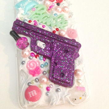 Kawaii Barbie Gun Cell Phone Case//Iphone6Cases//Frosting//Cabochon//Decoden
