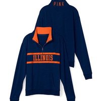 University of Illinois Boyfriend Half Zip