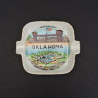 Oklahoma Trinket Souvenir Dish/Ashtray/Vintage/Collector/Collection