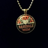 "Baseball Mom 1"" Pendant Necklace"