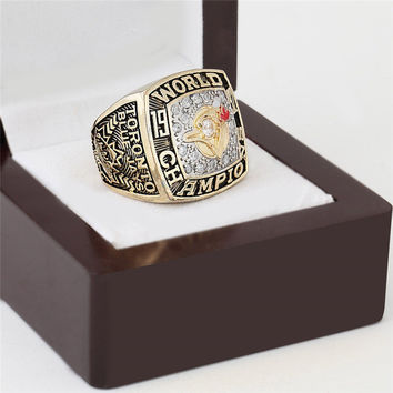 Toronto Blue Jays Championship Ring 1992 Replica World Series Baseball Rings Antique Jewelry Me