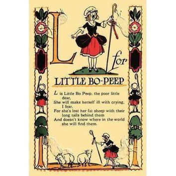 L for Little Bo-Peep