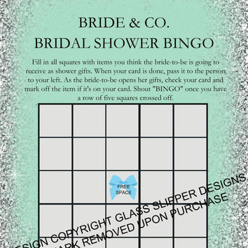 Printable Bride and Co Bingo Shower Game