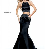 Sherri Hill 50811 Mermaid Satin Formal Prom Dress