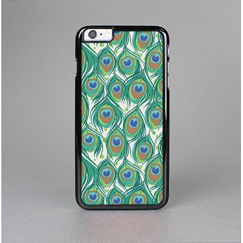 The Peacock Green Feather Bundle Skin-Sert Case for the Apple iPhone 6