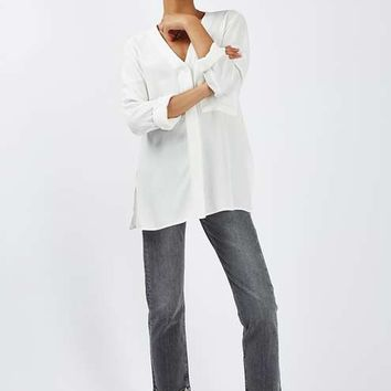 TALL Long Sleeve Slouchy Shirt