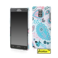 Galaxy Note 4 Case,Samsung Galaxy Note 4 Case,Hard Plastic Slim Back Case Fresh Color Paisley Pattern Fit For Galaxy Note 4 Case By Shimu Blue