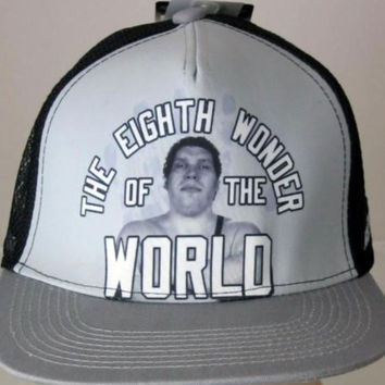 Officially Licensed WWE Legends Andre the Giant Snapback Trucker Hat Rock Hulk