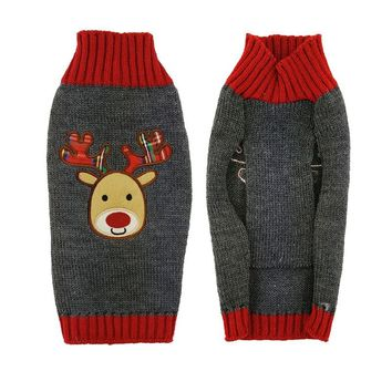 Christmas Elk Knitting Dog Sweater Costumes Christmas New Year Winter Soft Washable Dog Clothes For Small and Large Dogs
