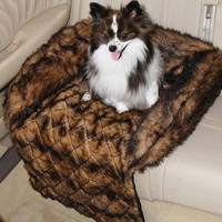 Maxam Pet Club Faux Mink Car Seat Cover