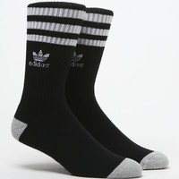 adidas Original Roller Crew Socks - Mens Socks - Black - One