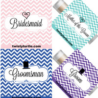 Wedding Party Lip Balm- Set of 5 - Bridal Party - Bridesmaid Gift Ideas - Favors -  Invitation - Engagement Groom - Favor Bags - Groomsman