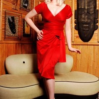 Ava Dress in Red by Pinup Couture - Dresses - Clothing   Pinup Girl Clothing