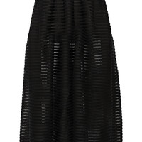 Maje - Jongle mesh-striped jersey maxi skirt