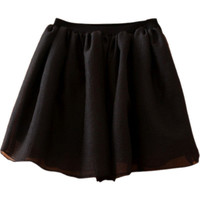 black elastic mesh skirt