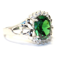 Emerald Green Promise Ring Side - Beautiful Promise Rings