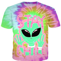 Pastel Trippy Alien T-Shirt